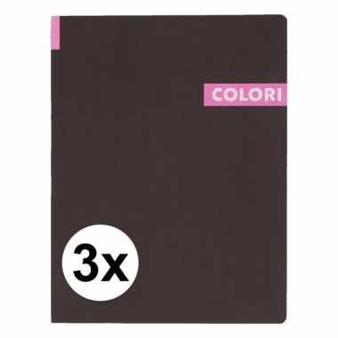 3 notitieboekjes b5 96 roze vellen