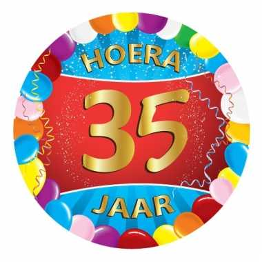 35 jaar verjaardag party viltjes