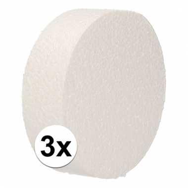 3x bruidstaart maken piepschuim schijf 10 cm