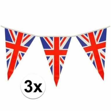 3x driehoeks vlaggenlijn groot-brittannie 7mt