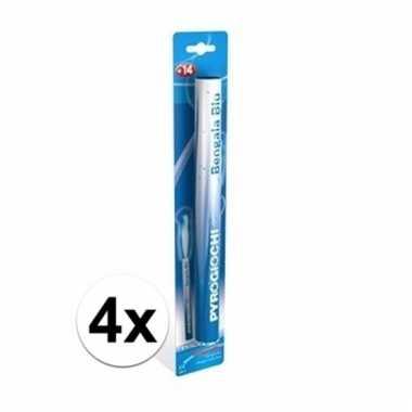 4 supporters fakkels blauw 36 cm 60 sec