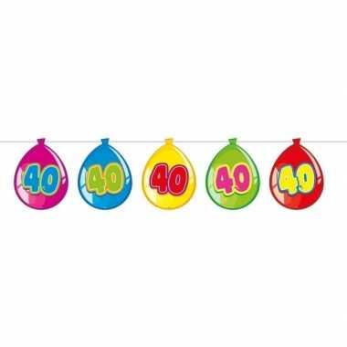 40 jaar slinger met kartonnen ballonnen 10 meter