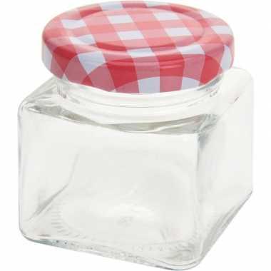 4x bewaar potje 75 ml met draaideksel
