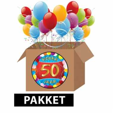 50 jaar party artikelen pakket