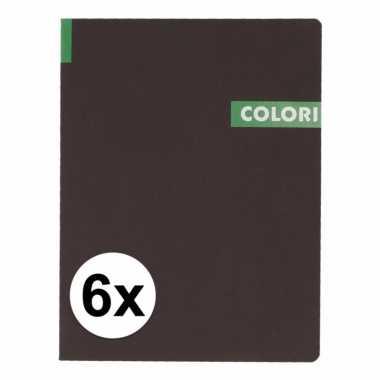 6 notitieboekjes b5 96 groene vellen