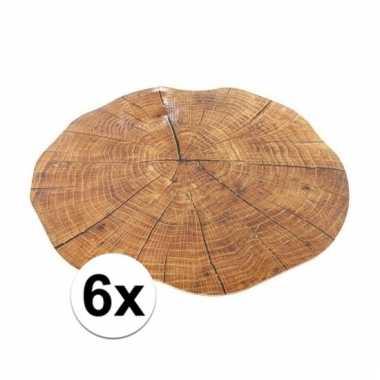 6x boomstam onderleggers 38 cm