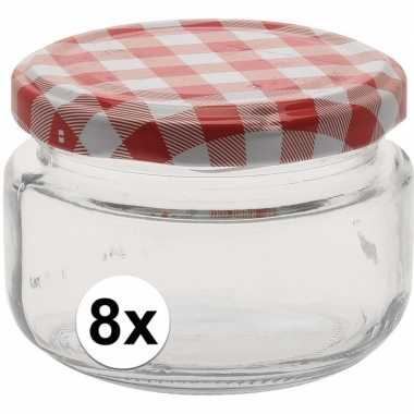 8x bewaar pot 140 ml met draaideksel