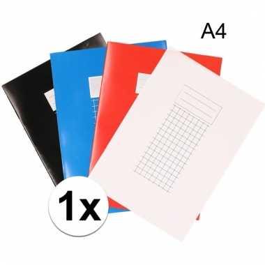 A4 schriften met ruitjes 10 mm