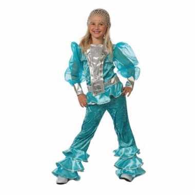 Abba kostuum blauw voor meisjes
