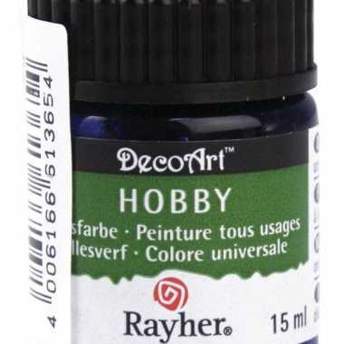 Acrylverf in de kleur blauw 15 ml