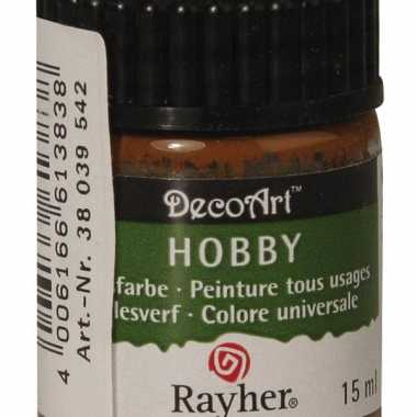 Acrylverf in de kleur bruin 15 ml