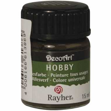 Acrylverf in de kleur donkerbruin 15 ml