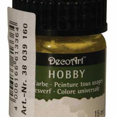 Acrylverf in de kleur geel 15 ml