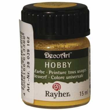 Acrylverf in de kleur goudgeel 15 ml