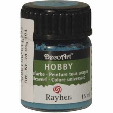 Acrylverf in de kleur turquoise 15 ml