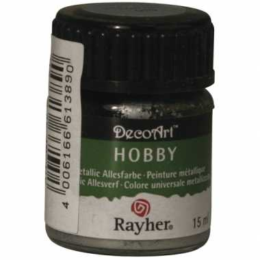 Acrylverf in de kleur zilver 15 ml