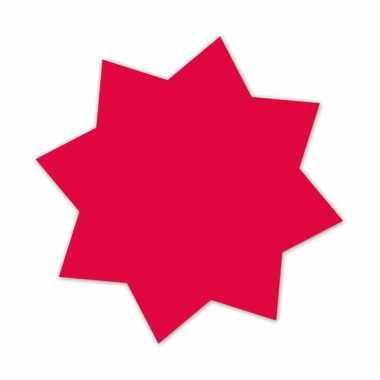 Actie sterren neonroze 18 cm