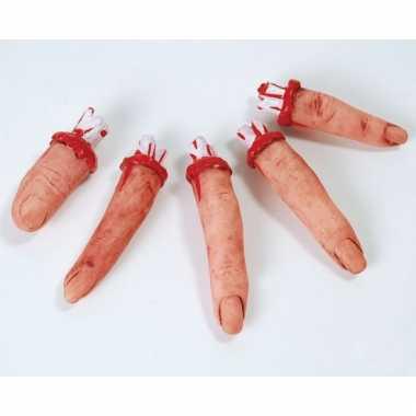 Afgehakte bloederige vingers 5 stuks