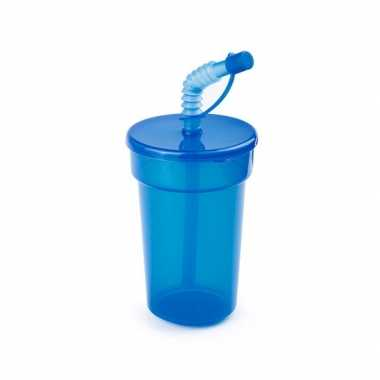 Afsluitbare sportbeker blauw 400 ml