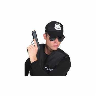 Agent verkleedaccessoire pet zwart