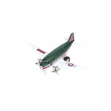 Airforce groen vliegtuigje 12 cm