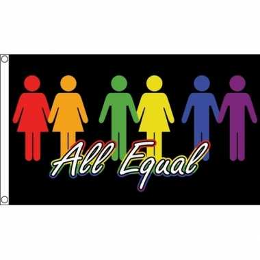 All equal gay pride vlag 150 x 90 cm
