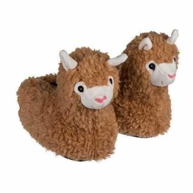 Alpaca/lama dierensloffen voor jongens/meisjes