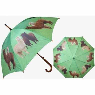 Alpaca/lama thema paraplu 101 cm