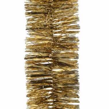 Ambiance christmas gouden kerstversiering folieslinger 270 cm