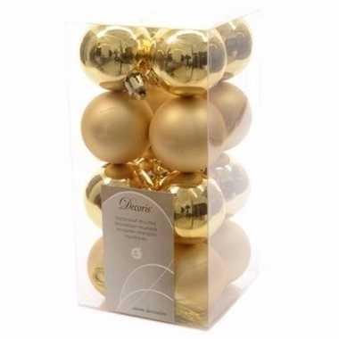Ambiance christmas gouden kerstversiering kleine kerstballen pakket 1