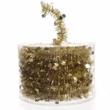 Ambiance christmas gouden kerstversiering sterren folieslinger 700 cm