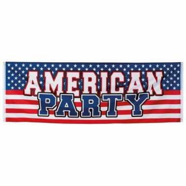 American thema party spandoek 220 cm