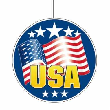 Amerika hangdecoratie 28 cm