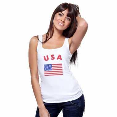 Amerikaanse vlag tanktop/ singlet voor dames