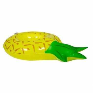 Ananas opblaas zwemband voor poppen/knuffels 27 cm