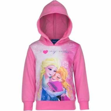 Anna en elsa sweater roze