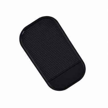 Anti-slip pad voor smartphone zwart voor in auto 14 cm