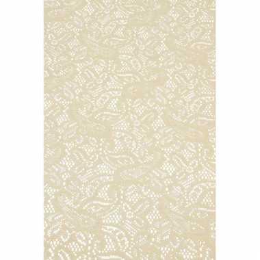 Antislip tafelloper 150 x 40 cm beige