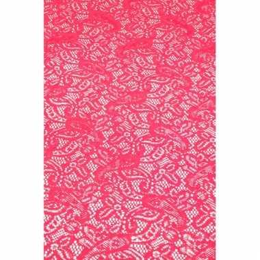 Antislip tafelloper 150 x 40 cm fuchsia roze