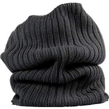 Antraciet winter nekwarmer voor volwassenen