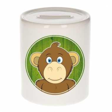 Apen spaarpot van keramiek 9 cm