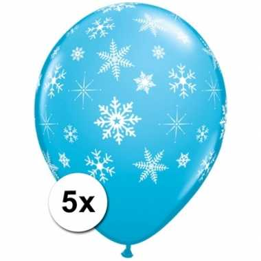 Apres-ski sneeuwvlok ballonnen