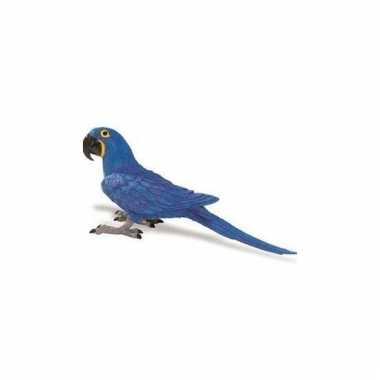 Ara papegaai blauw van plastic 11 cm