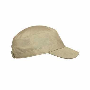 Army cap beige voor volwassenen