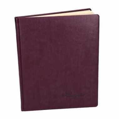 Aubergine trouwboekje deluxe 27 cm