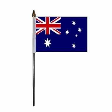 Australie luxe zwaaivlaggetje polyester