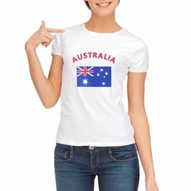 Australische vlaggen t-shirt voor dames