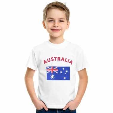 Australische vlaggen t-shirts voor kinderen