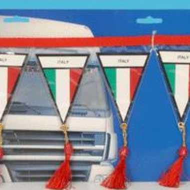 Auto mini vlaggenlijn italie 60 cm