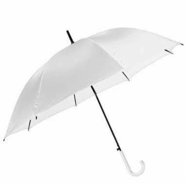 Automatische regen paraplu wit 106 cm